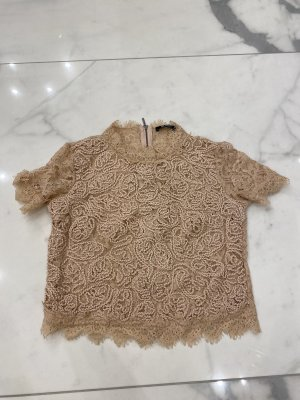 Zara Crochet Top beige