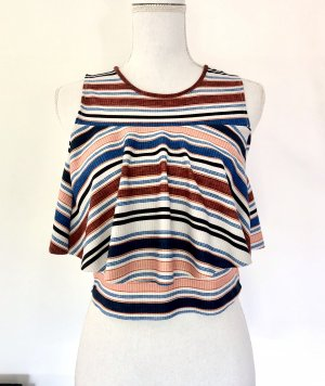 ZARA Top Gr. S gestreift Bunt Volants