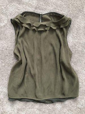Zara Frill Top green grey-khaki