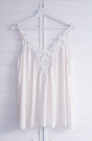 Zara A Line Top white-natural white