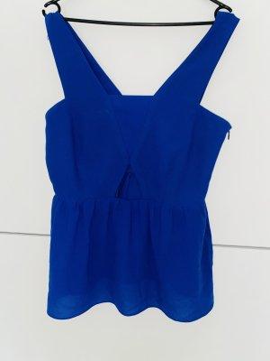 Zara Basic Haut à basque bleu