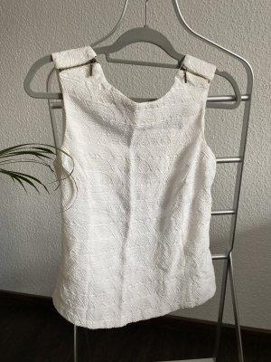 Zara Cut Out Top white-natural white