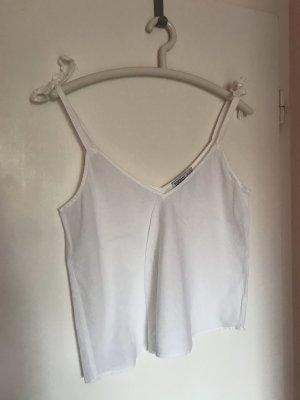 Zara Top mit Schleifen S/36 weiß