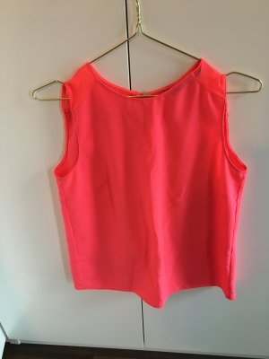Zara Backless Top neon pink