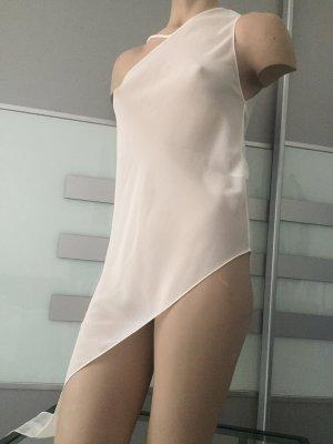 Zara One Shoulder Top natural white