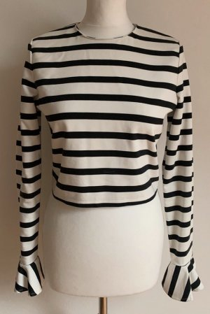 Zara Top schwarz-weiß