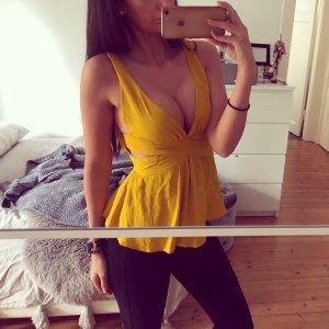 Zara Haut dos-nu jaune-ocre