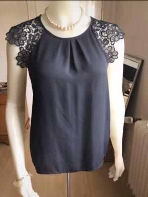 Zara Top/Shirt Nachtblau Gr 38 NEU