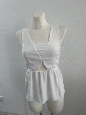 Zara Cut Out Top white