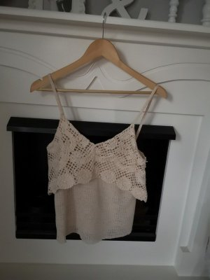 Zara Haut en crochet crème-beige clair