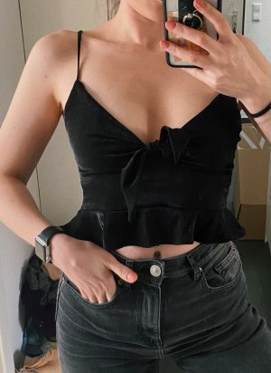 Zara Top tipo bustier negro