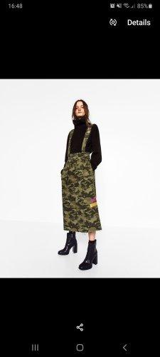 Zara Overgooier rok donkergroen-khaki