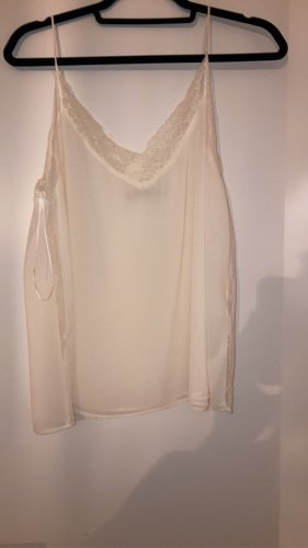 Zara Frill Top cream-natural white