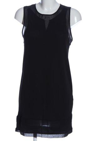Zara Chiffonkleid schwarz Casual-Look