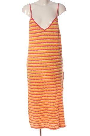 Zara Trägerkleid blassgelb-rot Streifenmuster Casual-Look