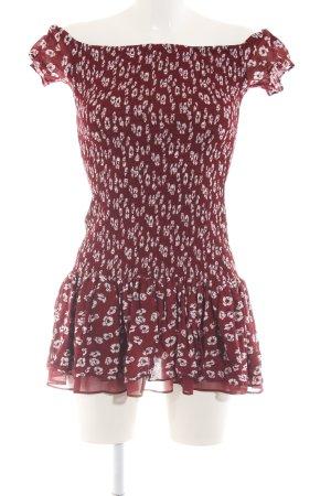 Zara Trägerkleid rot-weiß Allover-Druck Casual-Look