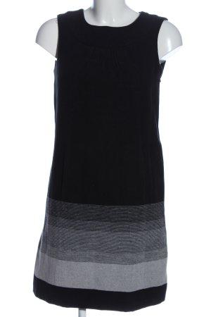 Zara Etuikleid schwarz-hellgrau Farbverlauf Casual-Look