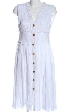 Zara Blusenkleid weiß Business-Look