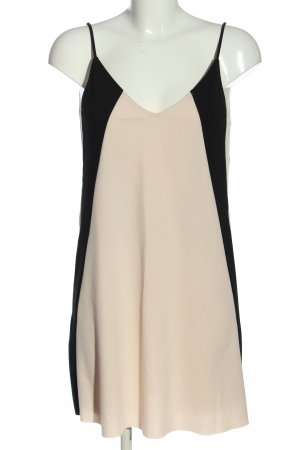 Zara Trägerkleid creme-schwarz Casual-Look