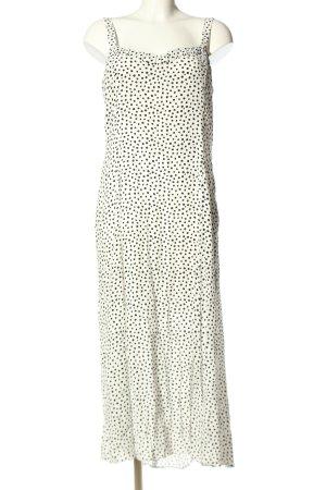 Zara Trägerkleid weiß-schwarz Punktemuster Casual-Look