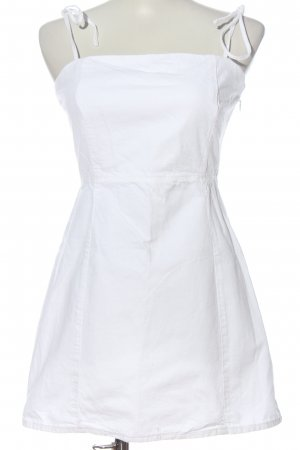 Zara Trägerkleid weiß Casual-Look