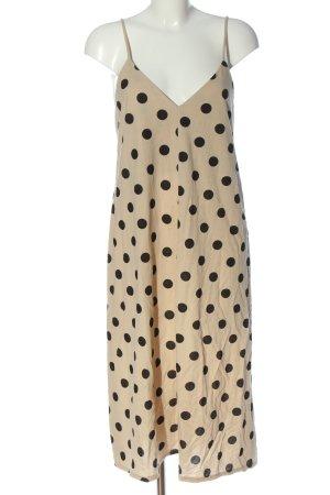 Zara Trägerkleid creme Punktemuster Casual-Look