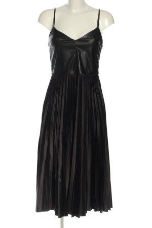 Zara Vestido tipo overol negro look casual