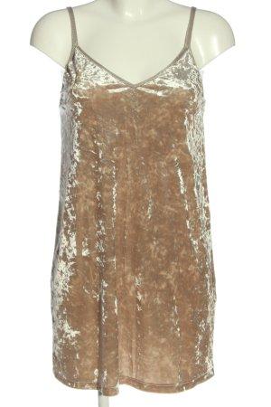 Zara Trägerkleid goldfarben Casual-Look