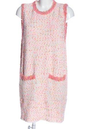 Zara Minikleid weiß-pink Casual-Look