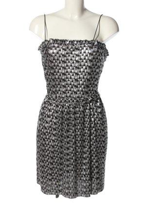 Zara Trägerkleid weiß-schwarz Allover-Druck Elegant