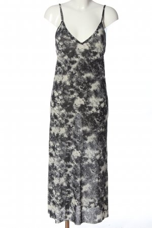 Zara Trägerkleid schwarz-hellgrau abstraktes Muster Casual-Look