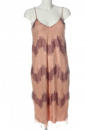 Zara Trägerkleid nude abstraktes Muster Casual-Look