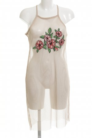 Zara Trägerkleid nude florales Muster extravaganter Stil