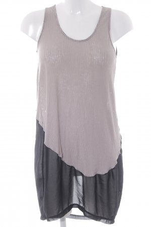 Zara Trägerkleid schwarz-beige Casual-Look