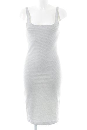Zara Trägerkleid weiß-schwarz Streifenmuster