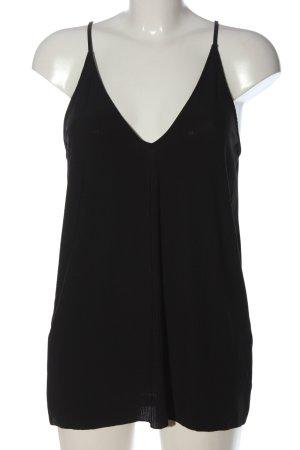 Zara Top na ramiączkach czarny W stylu casual