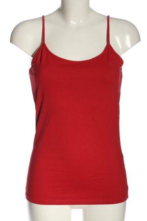 Zara Top na ramiączkach czerwony W stylu casual