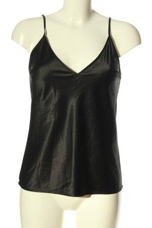 Zara Trägertop schwarz schlichter Stil