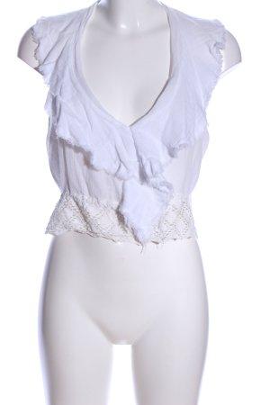 Zara Trägertop weiß Elegant