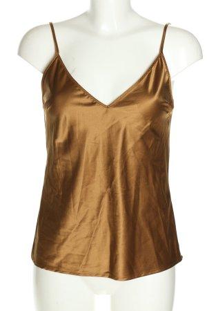 Zara Trägertop bronzefarben Casual-Look