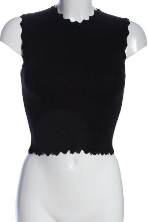 Zara Trägertop schwarz Casual-Look