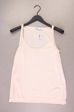 Zara Trägertop Größe S creme aus Baumwolle