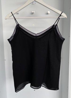 Zara - Trägertop mit Spitze in Schwarz (ungetragen)
