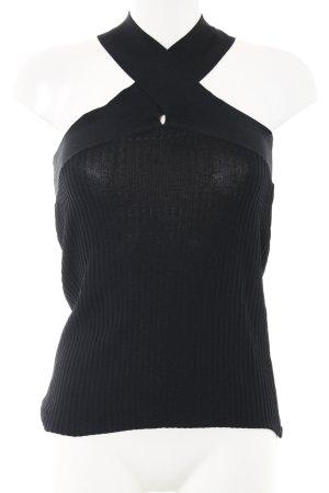 Zara Trägertop schwarz Streifenmuster Casual-Look