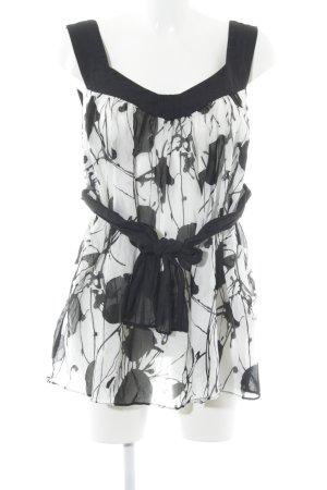 Zara Trägertop schwarz-weiß Elegant