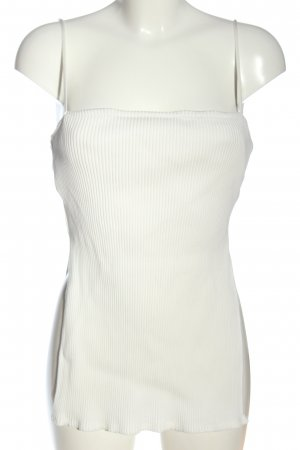 Zara Top met spaghettibandjes wit gestreept patroon casual uitstraling
