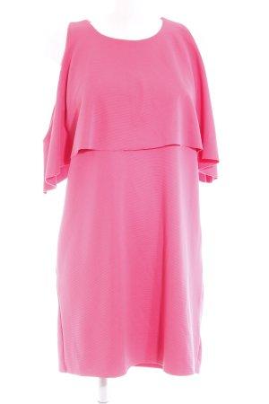 Zara Trafaluc Robe trapèze rose fluo style décontracté