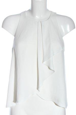 Zara Trafaluc A Line Top white casual look