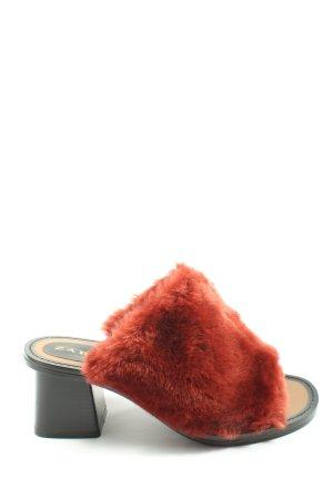 Zara Trafaluc Mule à talon noir-rouge style décontracté
