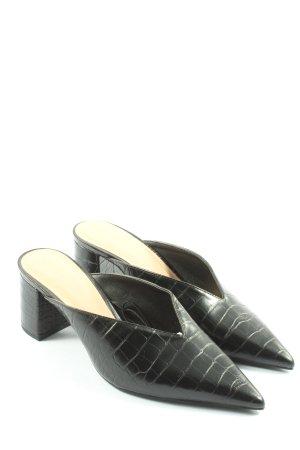 Zara Trafaluc Mule à talon noir imprimé allover style décontracté